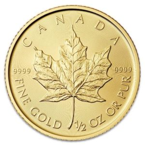 half oz canadian gold leaf maple coin