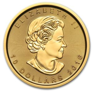 quarter ounce canadian maple leaf gold coin