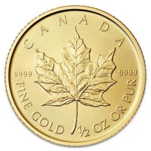 half oz canadian gold leaf maple coin